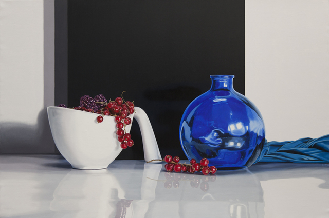 , 'Berries and Blue Cloth,' 2016, Plus One Gallery