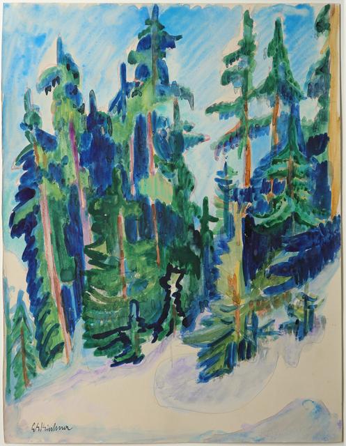 , 'Tannen im Gebirge,' 1918-1920, Galerie Utermann
