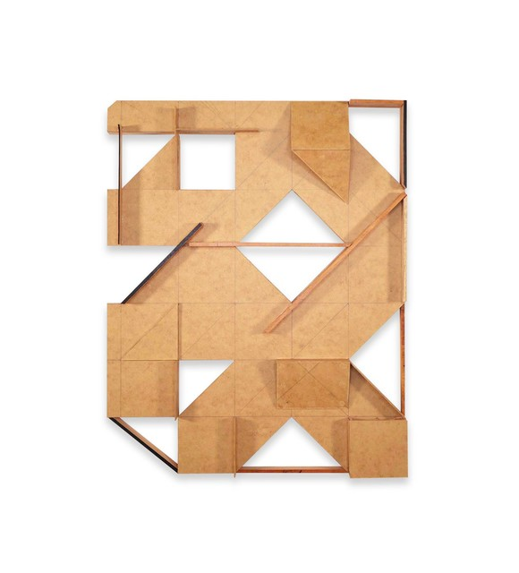 Ernesto Garcia Sanchez, 'Untitled 4', 2020, Sculpture, MDF cardboard and wood sticks, Mindy Solomon Gallery