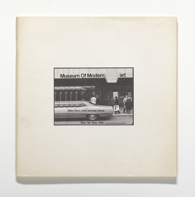 , 'Museum of Modern [F]art,' 1971, The Museum of Modern Art