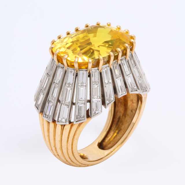 , '1950s Yellow Sapphire and Diamond Ring by Cartier Paris,' ca. 1950, A La Vieille Russie