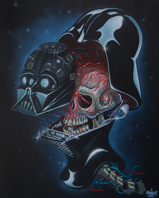 , 'Dissection of Darth Vader's Head,' 2016, Jonathan LeVine Projects