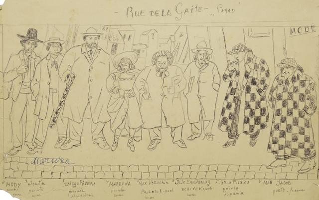 "Marie Vorobieff Marevna, '""Rue de la Gaite- Parad""', Roseberys"