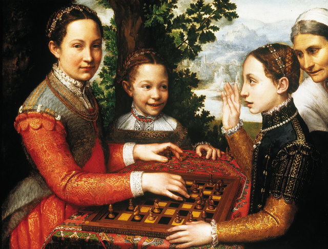 Sofonisba Anguissola, 'The chess game', 1555, Painting, Oil on canvas, Centre for Fine Arts (BOZAR)