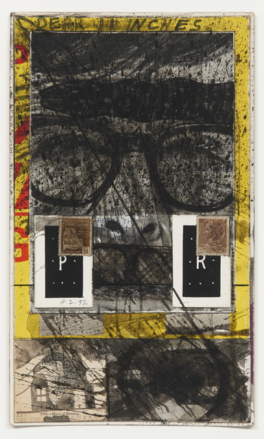 , 'Untitled (Two brown Italian postage stamps),' 1987, DICKINSON