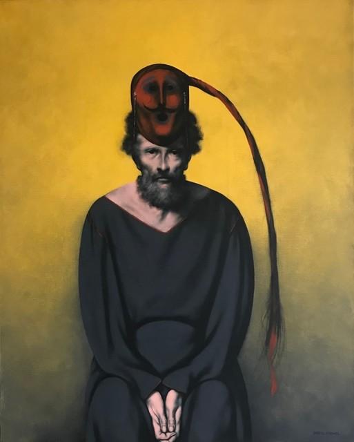 Rafael Coronel, 'Moro trenza', 1990-2000, Painting, Acrylic on canvas, Aguafuerte Galería