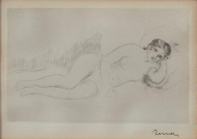 Pierre-Auguste Renoir, 'Femme Nue Couchee (toumee a Droite), first plate', 1906, Rachael Cozad Fine Art