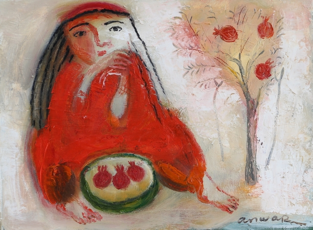 , 'Pomegranates,' 2017, Galerie Lilja Zakirova