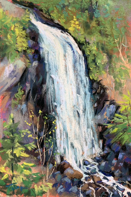 Takeyce Walter, 'Day 10: Spring Flow on OK Slip ', February 2020, Painting, Pastels, Keene Arts