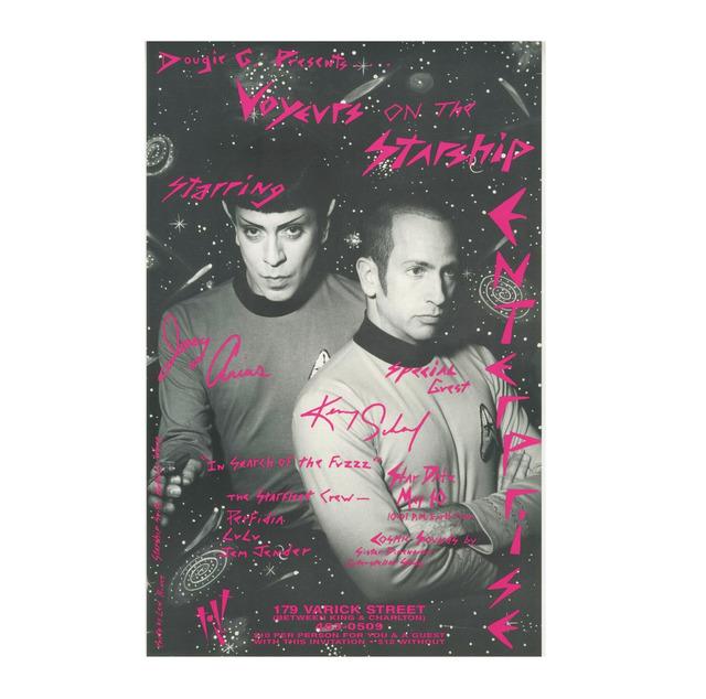 "Kenny Scharf, '""Voyeurs on the Starship Enterprise / Starring Joey Arias & Kenny Scharf"", Poster, Tilt Nightclub NYC', 1992, Ephemera or Merchandise, Lithograph on gloss coated paper, VINCE fine arts/ephemera"