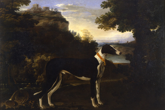 , 'A Greyhound in a Landscape, with Bracciano in the background,' 17th century, Robilant + Voena