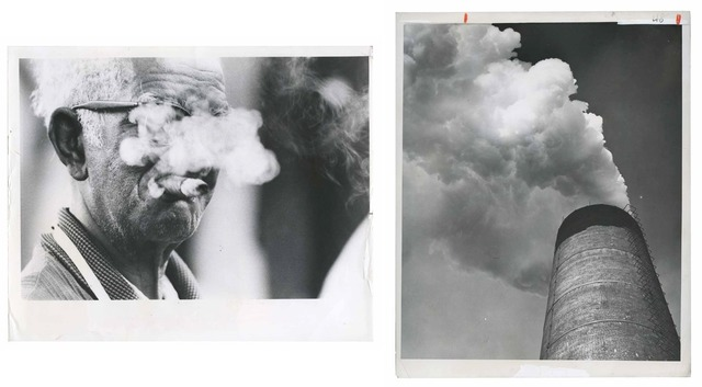 , 'TQ 3/4: Here's smoke in your eye/Smokestack, Bethlehem Steel,' 1976/1959, Moss Bureau