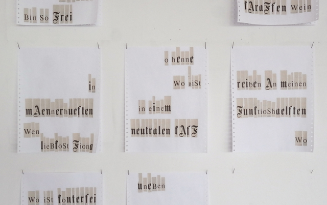 , 'S-Letter,' 2016, DAS ESSZIMMER
