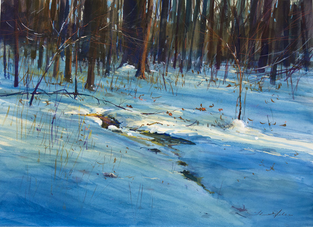 , 'SNOW COVERED BROOK-HIGH COUNTRY,' 2001, Jerald Melberg Gallery