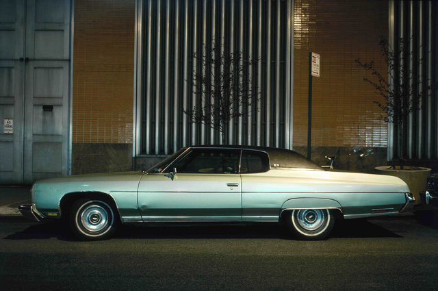 , 'Silver Fish, Chevrolet Impala Custom Coupe in front of Con Edison Substation,' 1975, Jackson Fine Art