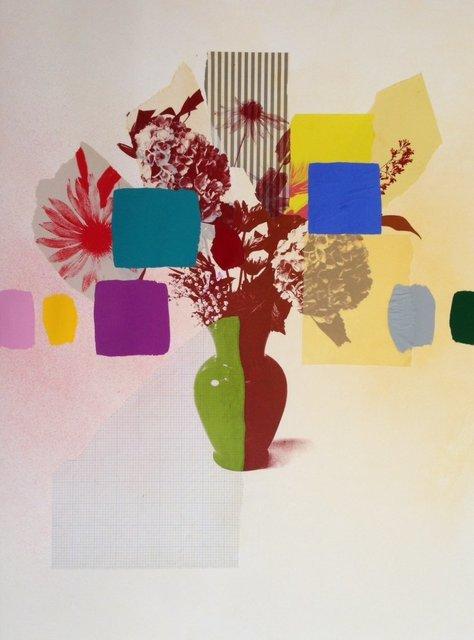 , 'Paper Bouquet (green + brown vase),' 2017, Rebecca Hossack Art Gallery