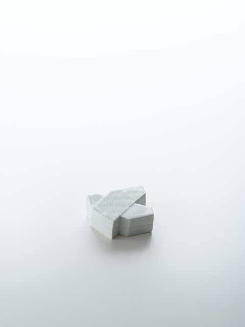 , 'Sculpted Blue-White Porcelain Incense Box in Shape of Origami Swallow,' 2018, Onishi Gallery