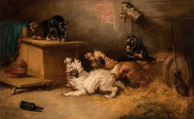 , 'Terriers And A Cat,' 19th Century, Cross Gate Gallery