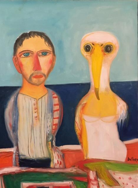 , 'Man and his albatross,' ca. 1990, Robert Eagle Fine Art
