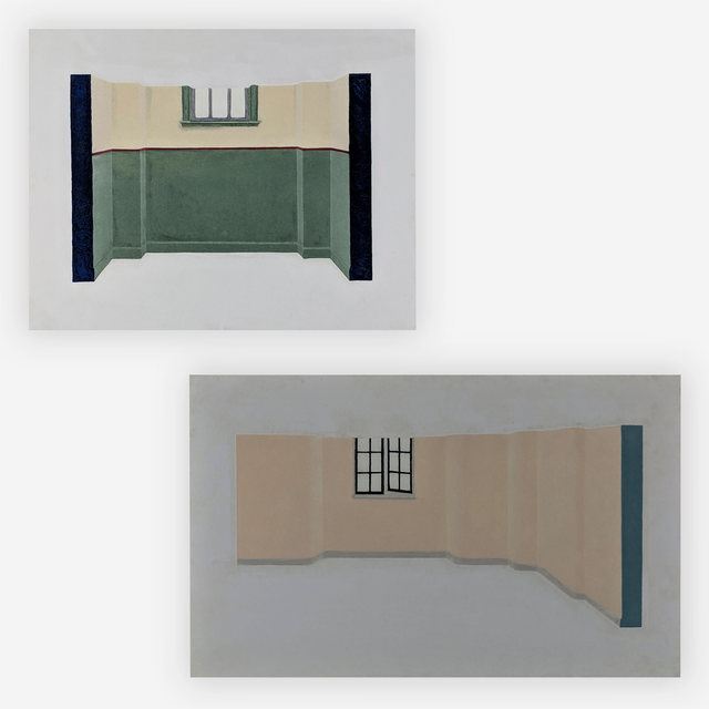 Alan Herman, 'Interior walls (2 works)', 1980, Capsule Gallery Auction