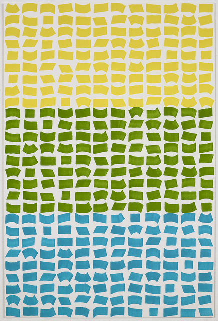 Jacob Ouillette, 'Yellow/Green/Blue 108', 2018, Painting, Watercolor on paper, NAVA Contemporary