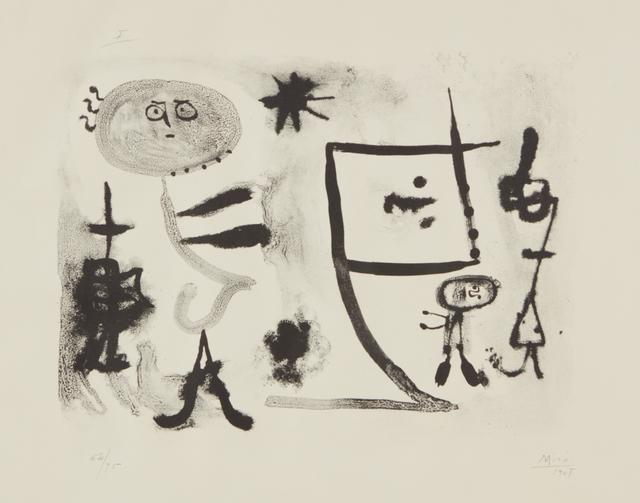 Joan Miró, 'Album 13: plate I', 1948, Phillips