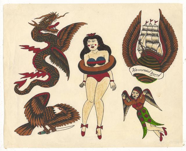 , 'Untitled (Dragon Pinup Tall Ship),' ca. 1950, Ricco/Maresca Gallery