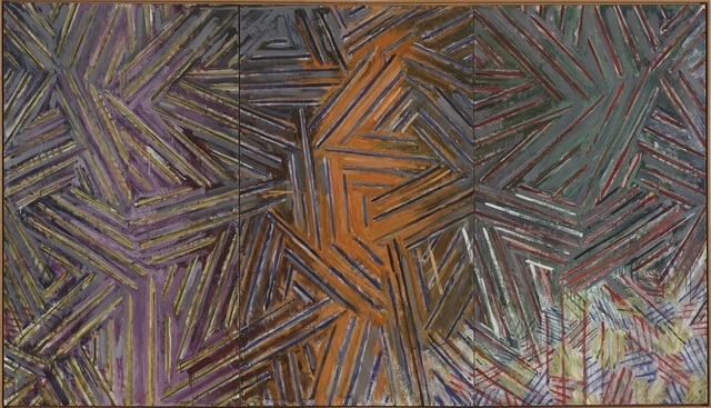 Jasper Johns Between the Clock and the Bed, 1981, Encaustic on canvas.