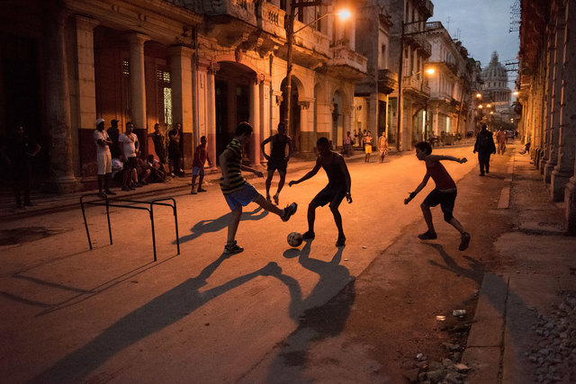 , 'Children Play a Game of Soccer in the Street,' , Cavalier Galleries