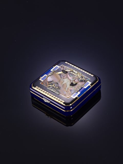 Black Starr & Frost, 'Nécessaire', ca. 1920, Gold, diamonds, enamel, mother-of-pearl, Liang Yi Museum