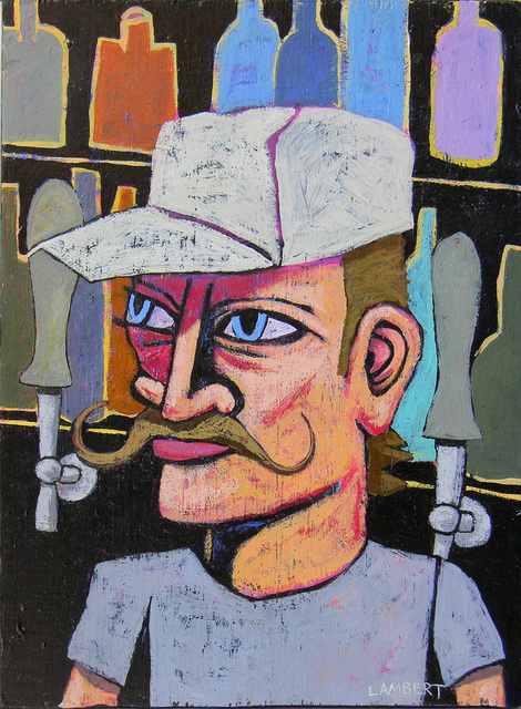 , 'Bartender at the Chart Room ,' 2019, LeMieux Galleries
