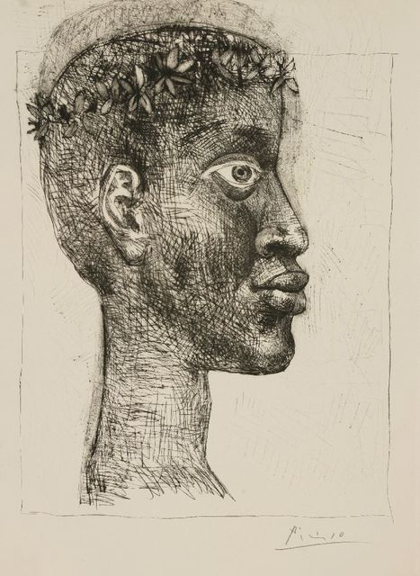 Pablo Picasso, 'Nègre Portrait D'Aimé Césaire (Bloch 633)', 1949, Print, Etching with drypoint, Sworders