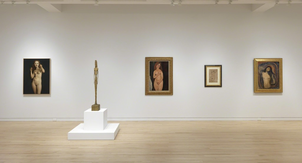 """Nude: From Modigliani to Currin."" Installation view. Photo by Rob McKeever. Courtesy Gagosian."