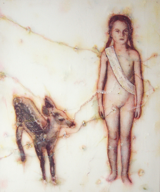 , 'Girl with Deer,' 2008, Seager Gray Gallery