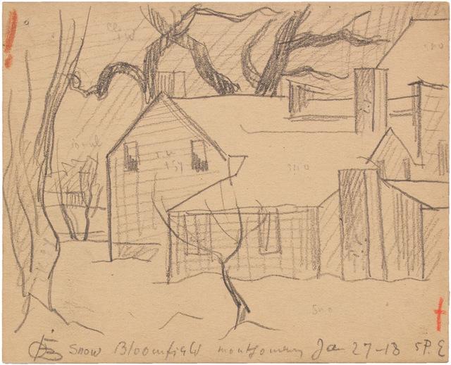 , 'SNOW, BLOOMFIELD, MONTGOMERY JAN 27-18,' 1918, Jerald Melberg Gallery