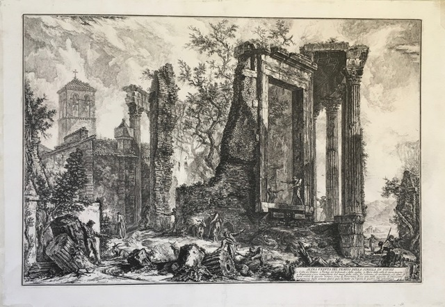 , 'Temple of the Sibyl at Tivoli: The broken side of the Colonnade,' 1761, Pia Gallo