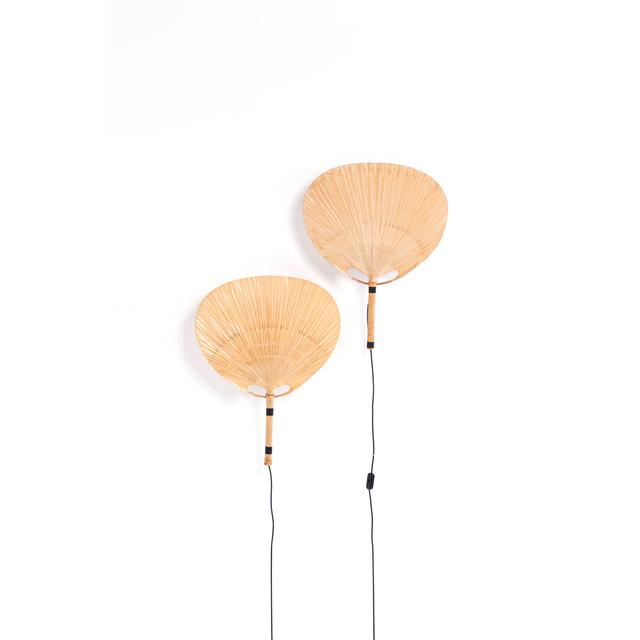 Ingo Maurer, 'Modèle Uchiwa III - Pair of wall lamps', 1973, PIASA