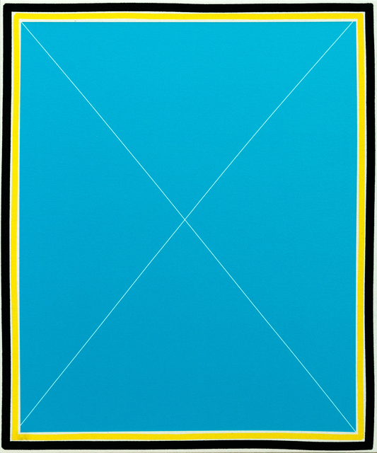 , 'Simple X (cobalt/teal),' 2014, Newzones