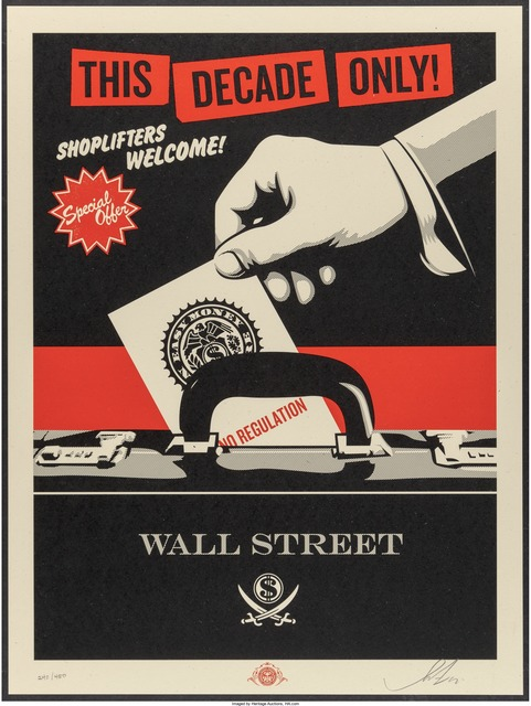 Shepard Fairey (OBEY), 'Shoplifters Welcome', 2012, Heritage Auctions