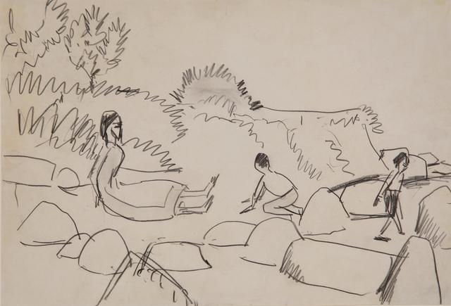 , 'Badende an Steinen (Fehmarn),' ca. 1912, Henze & Ketterer & Triebold