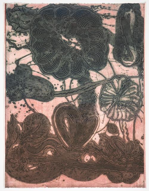 Catherine Howe, 'Garden (Daisy, Pheasant, Green on Rose)', 2019, Manneken Press