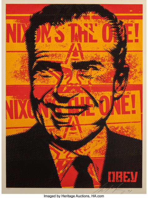 Shepard Fairey (OBEY), 'Nixon Poster', 2001, Heritage Auctions