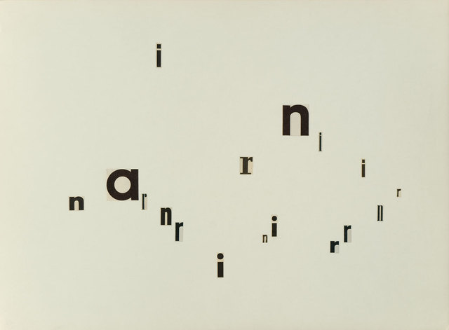 , 'Untitled (n a r),' 1960, Christine König Galerie