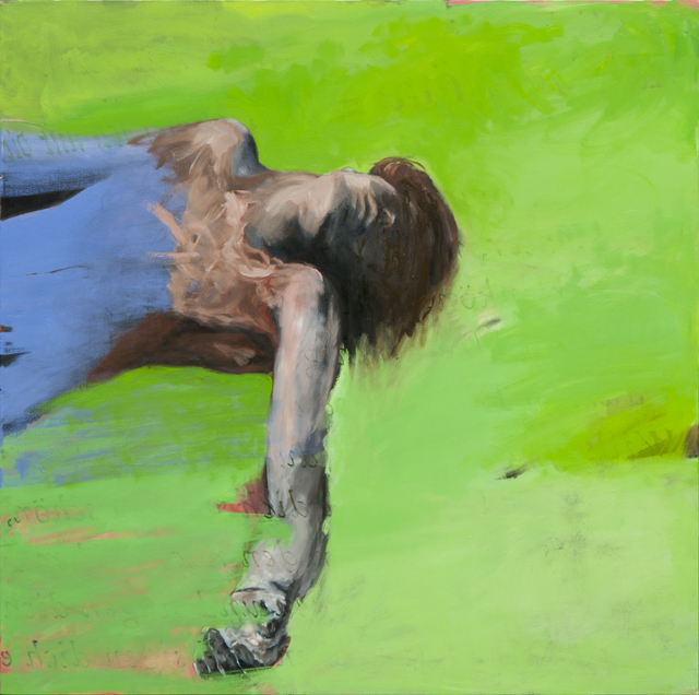 , 'Fils, fond vert,' 2014, Isabelle Gounod