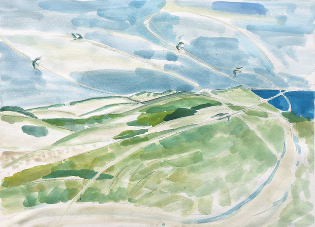 Teresa Baksa, 'Flight of the Dune Swallows', 2018, Painting, Watercolor, Miller White Fine Arts