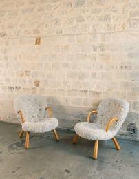 Modèle Clam, Paire de fauteuils