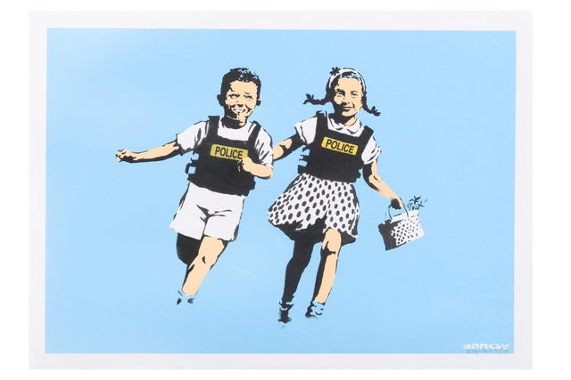 Banksy, 'Jack & Jill (Police Kids)', 2005, Print, 4 colour hand-pulled silkscreen print on archival paper, Chiswick Auctions