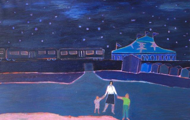 Tom Hammick, 'Circus, Glyne Gap', 2007-13, Painting, Oil on linen, Flowers