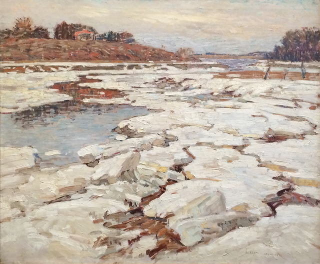 William Lester Stevens, 'A River in Winter', 1921, Painting, Oil on canvas, Heather James Fine Art