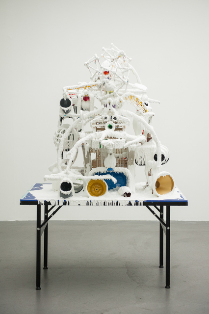 Teppei Kaneuji, 'White Discharge (Built-up Objects #36)', 2014, Jane Lombard Gallery
